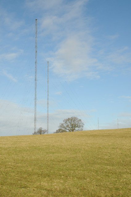 Wychbold radio transmitter masts