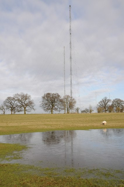 Wychbold radio transmitter masts