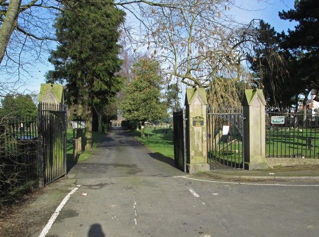 Leabrooks - Cemetery gates