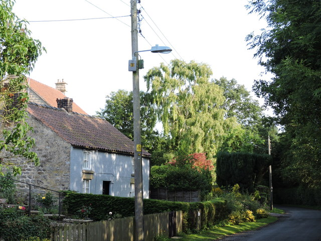 Street Lighting on a Utility Pole in Harome, North Yorkshire