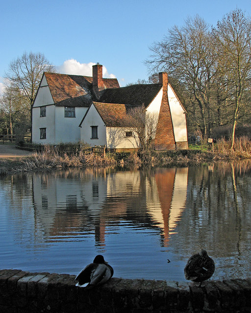 Flatford millpond and Willy Lott's House