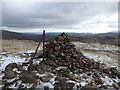 NY3111 : Summit Cairn, Steel Fell by Chris Holifield