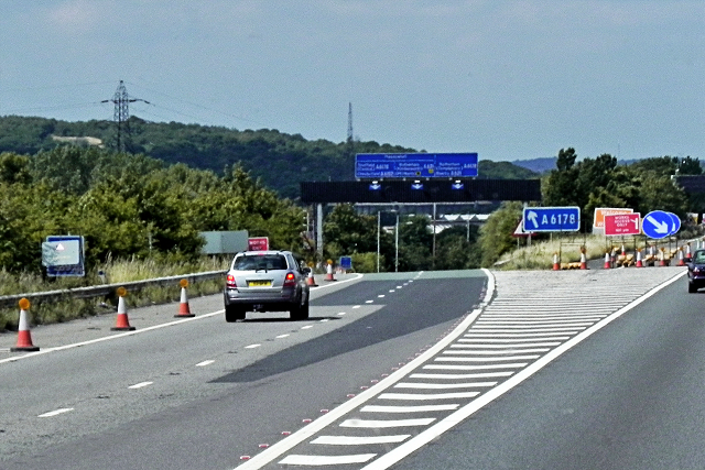 Northbound M1, Exit at Junction 34, Tinsley