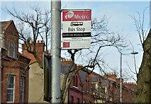J3375 : Bus stop, Duncairn Gardens, Belfast (February 2016) by Albert Bridge