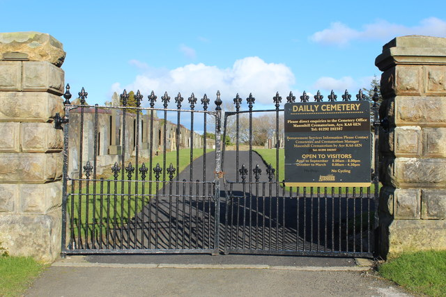 Dailly Cemetery Gates