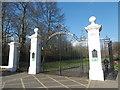 TQ3093 : Inverforth Gate at entrance to Grovelands Park by Marathon