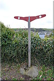 SX5053 : South West Coast path signpost by N Chadwick