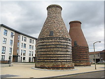 NT3074 : Pottery kilns on Bridge Street by M J Richardson
