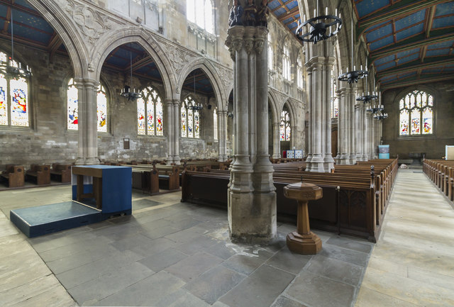 North aisle and nave, St Mary's church, Beverley