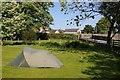 SJ1951 : Camping at Llyn Rhys Farm by Philip Halling