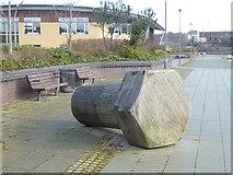 NZ4057 : Bolt sculpture, St Peter's Riverside by Oliver Dixon