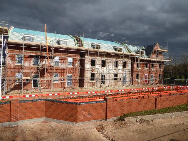 New housing development opposite Newport Park