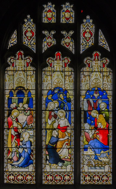 Stained glass window s.XIII, St Mary's church, Beverley