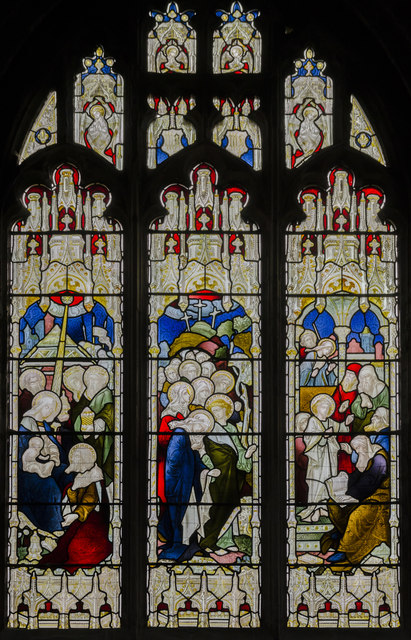 Stained glass window s.XIV, St Mary's church, Beverley