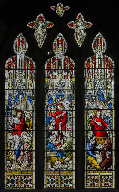 Stained glass window s.XV, St Mary's church, Beverley