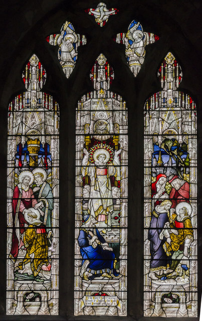 Stained glass window s.XVI, St Mary's church, Beverley