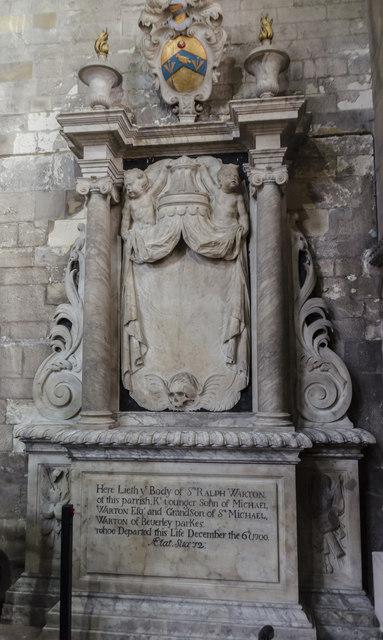 Memorial to Sir Ralph Warton, St Mary's church, Beverley
