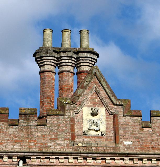 Chimney stacks at Ketteringham Hall