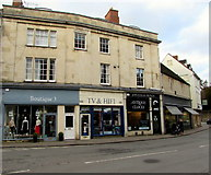 SP0202 : Shops at the northern end of West Market Place, Cirencester by Jaggery