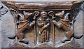 TA0339 : Misericord S4, St Mary's church, Beverley by Julian P Guffogg