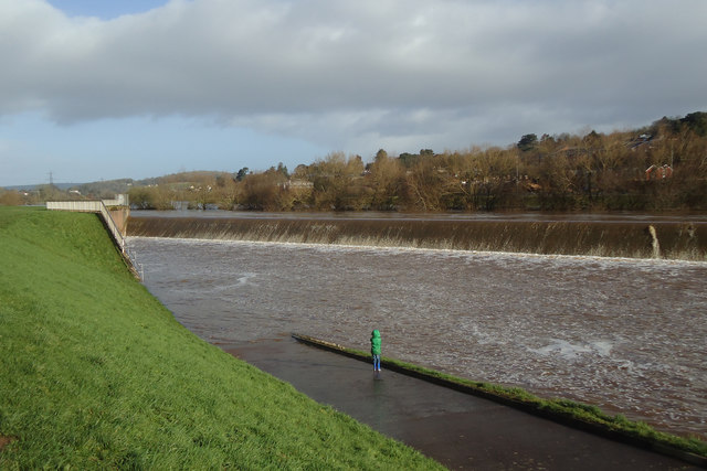 Exe flood relief channel in use
