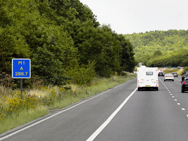 M1 Motorway Passing Driver Location A286.7