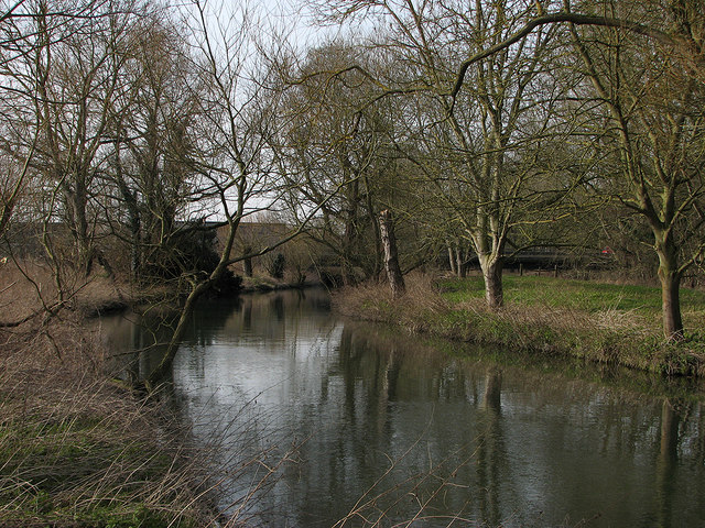 The Cam at Trumpington Meadows Country Park
