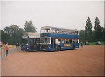 SP0683 : Buses at the Outer Circle Rally, Cannon Hill Park by Richard Vince