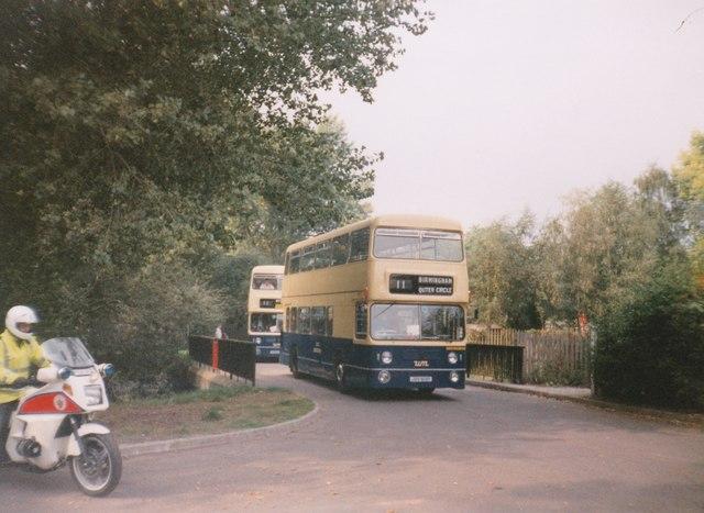Buses entering Cannon Hill Park