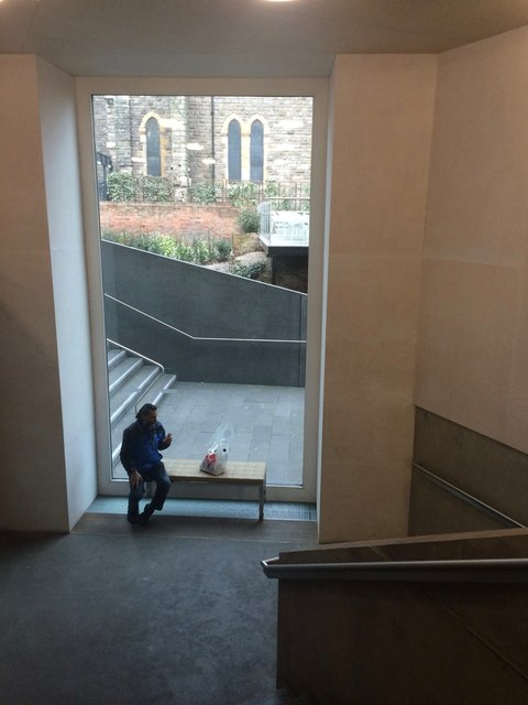 View from a window in Nottingham Contemporary by David Lally