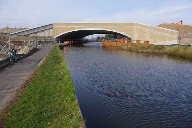 Milestone Bridge construction, Lancaster Canal