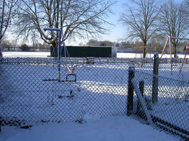 Western Park (Ashby) in the snow
