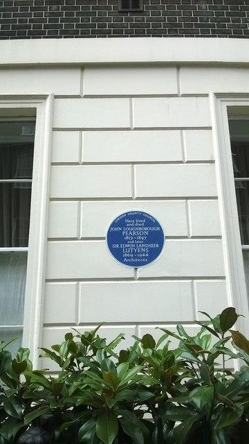 Mansfield Street, London W1: architects' blue plaque