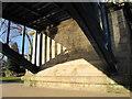 SJ4812 : The north eastern abutment of the Kingsland Bridge by John S Turner