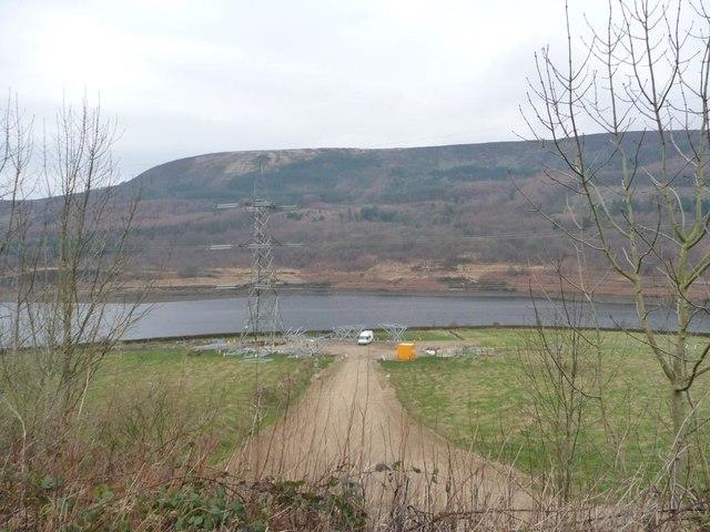 Work site above Rhodeswood Reservoir