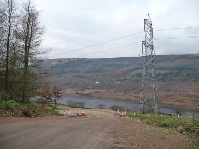 Temporary access road to pylon work-site