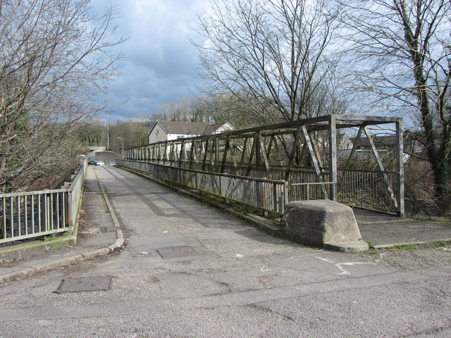 Road and footbridges near the Treforest Tin Plate Works