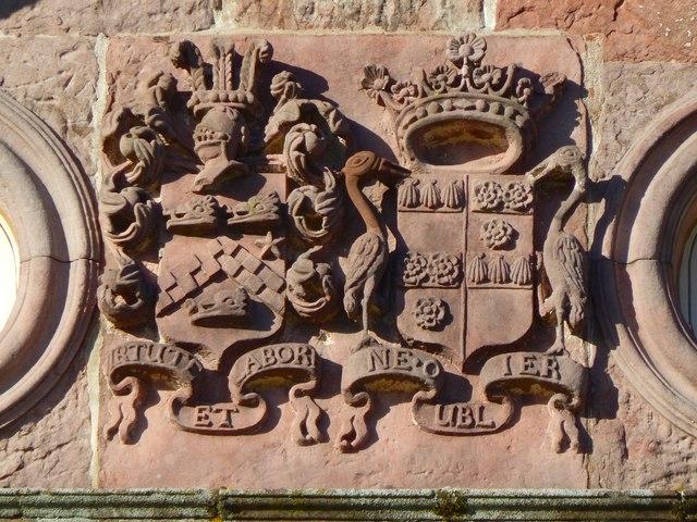 Strathleven House: heraldic details