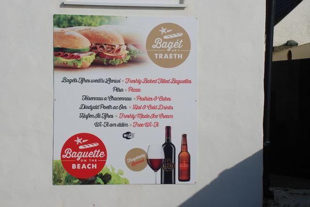Bwydlen ddwyiethog Bilingual menu