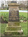 NZ3181 : Plaque in Ridley Park, Blyth by Graham Robson