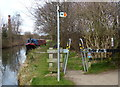 SK4834 : Width barrier on the Erewash Canal towpath by Mat Fascione