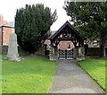 SJ3043 : War Memorial and lychgate, Ruabon by Jaggery