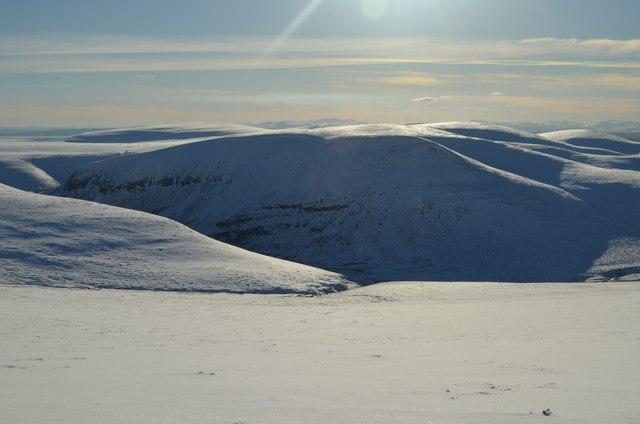 Upper Glen Sletdale in Winter, Sutherland