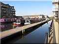 TQ1777 : Daddy Longlegs and Sarah Davey, narrowboats in Brentford Lock basin by David Hawgood