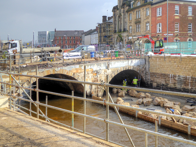 River Roch, Rochdale Town Centre (February 2016)