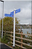 SX5054 : National Cycle Route 27 signpost by N Chadwick