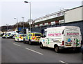 ST2890 : Bounce Party! van and police vehicles, Bettws, Newport by Jaggery