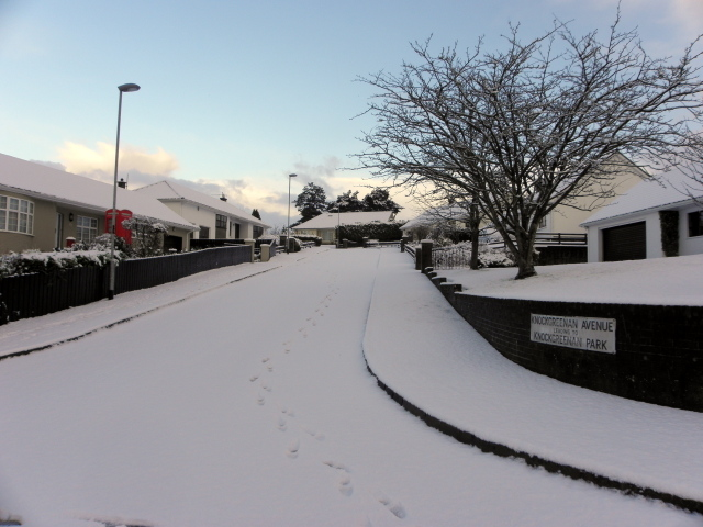 Snow, Knockgreenan Avenue, Omagh