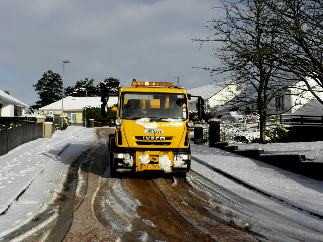 Gritter to the rescue, Knockgreenan, Omagh