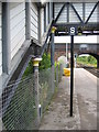 SJ3478 : Part of the historic former footbridge at Hooton Station by John S Turner